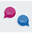 Red and blue shining bright bubble speech on a vector image