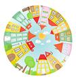 round street vector image