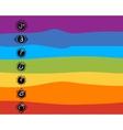 Seven main chakras sketch foy your design vector image