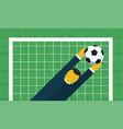 soccer championship kick into the goal vector image