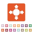 The arrow icon Search symbol Flat vector image