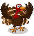happy turkey cartoon vector image vector image
