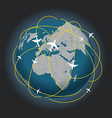 Global travel abstract scheme vector image