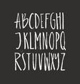Brushy drawn font vector image