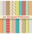 Retro striped seamless patterns tiling vector image vector image