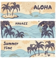Vintage banners of the islands in the ocean vector image vector image
