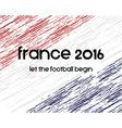 France 2016 Football poster Retro stylish France vector image