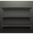 Dark background shelves vector image