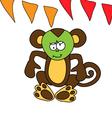A cute brown monkey got sick vector image