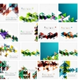Set of triangle geometric abstract backgrounds vector image