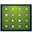 bank related pictograms vector image