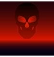 a black skull vector image