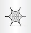 black spider web symbol vector image
