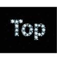 Diamond word top vector image