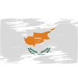 Flag of Cyprus with old texture vector image