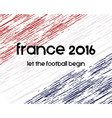 France 2016 Football poster Retro stylish France vector image