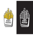 French fries in paper pack vector image