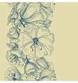 Graphic floral seamless pattern vector image