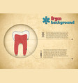 healthy dentistry template vector image