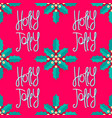 holly jolly christmas decoration vector image