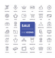 line icons set sale pack vector image