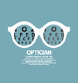 Optician Vision Of Eyesight vector image
