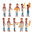 professional carpenter foreman male in vector image