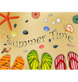 Set of holiday summer on beach vector image
