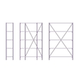 Set of metal rack vector image