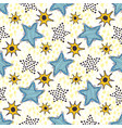 Stars seamless pattern hand drawn background for vector image