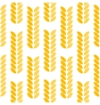 Ear of wheat seamless pattern vector image