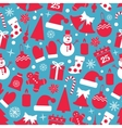 Winter icons seamless vector image