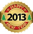 Happy new 2014 year golden label vector image