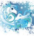 Winter horse vector image