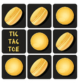 Tic-Tac-Toe of macaron vector image