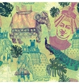 Samless pattern in vintage style with indian vector image