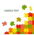multi-coloured puzzles vector image vector image