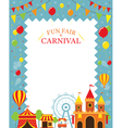 Amusement Park with Decoration Frame vector image