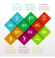 Infographic square template vector image