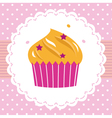 Cute party cupcake card vector image vector image