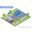 Isometric city street with traffic vector image vector image