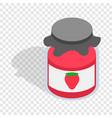 Bank strawberry jam isometric icon vector image