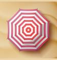classic round rain umbrella travel vector image