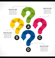creative question mark info-graphics concept vector image
