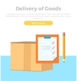 Delivery of Goods Banner Packing Product Design vector image