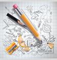 education science concept pencil sketch vector image