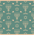 hanukkah seamless pattern with vector image
