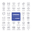 line icons set cinema vector image