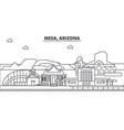 mesa arizona architecture line skyline vector image