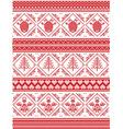 Angel Christmas tree heart reindeer pattern vector image